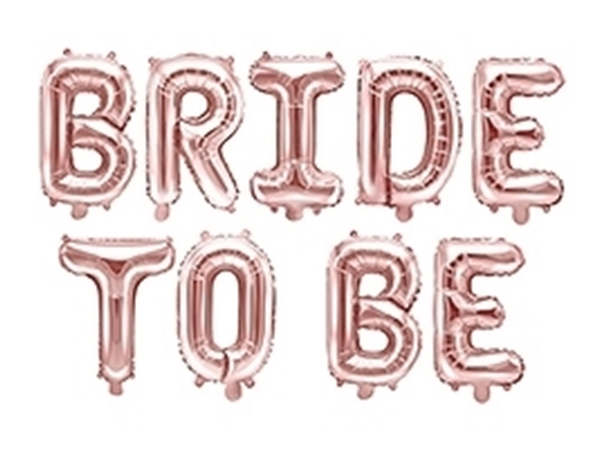 Picture of Foil Balloons Kit BRIDE TO BE rose gold
