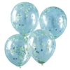 Picture of Green and Blue Confetti Filled Balloons