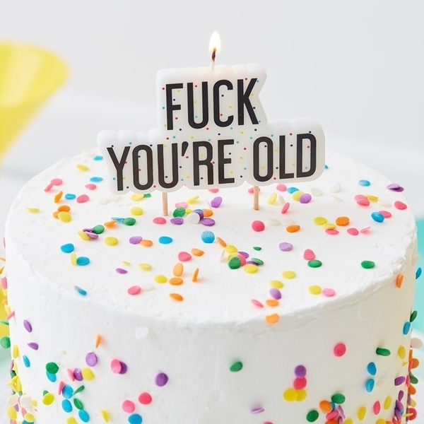 Κερί για τούρτα F*ck You 're Old