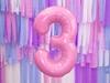 Μπαλόνι Αριθμός 3 Ροζ 86cm
