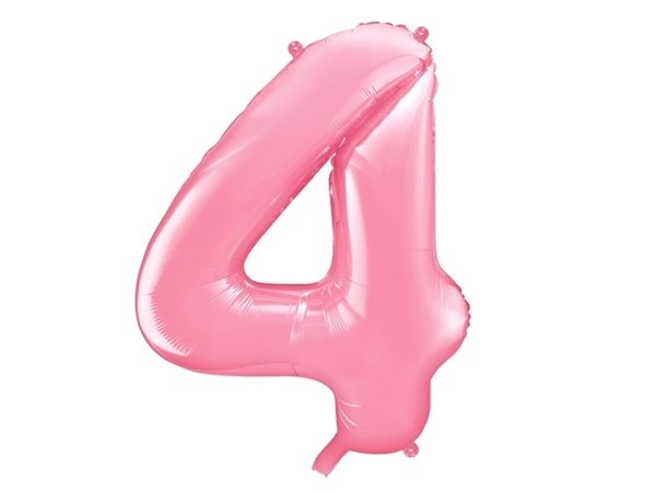 """Picture of Foil Balloon Number """"4"""", 86cm, pink"""