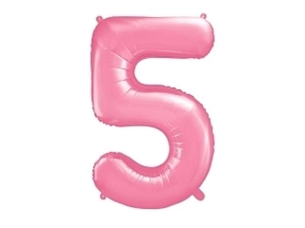 Μπαλόνι Αριθμός 5 Ροζ 86cm