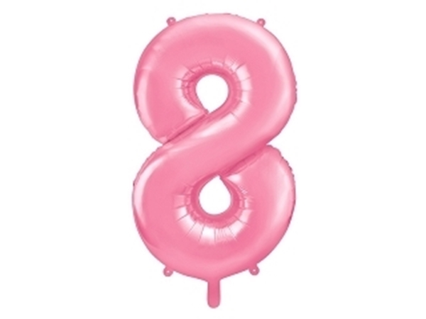 """Picture of Foil Balloon Number """"8"""", 86cm, pink"""