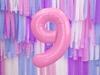 Μπαλόνι Αριθμός 9 Ροζ 86cm