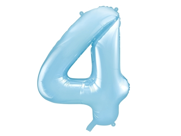 "Picture of Foil Balloon Number ""4"", 86cm, light blue"