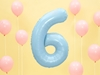 Μπαλόνι Αριθμός 6 Γαλάζιο 86cm