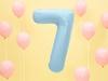 Μπαλόνι Αριθμός 7 Γαλάζιο 86cm