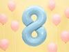 Μπαλόνι Αριθμός 8 Γαλάζιο 86cm