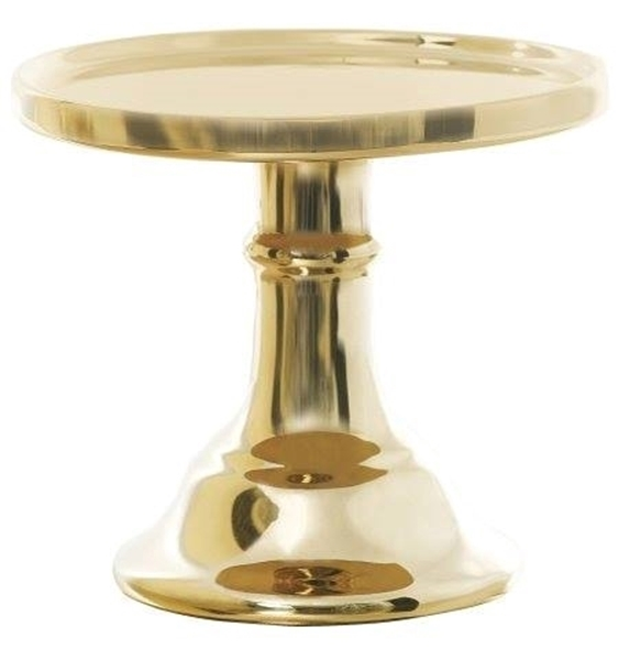 Picture of Ceramic Cake Stand Gold (S)