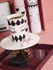 Picture of Ceramic Cake Stand Gold - White(S)