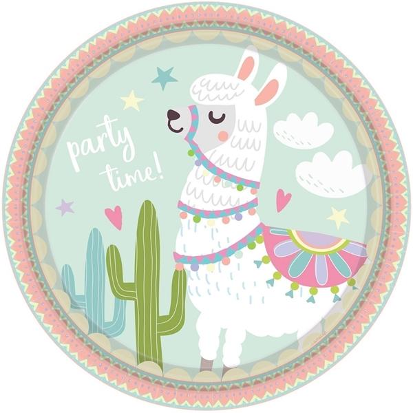 Picture of Paper plates (23cm) - Lama