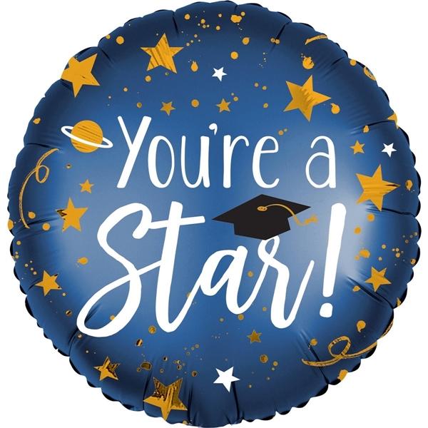 Μπαλόνι foil αποφοίτησης - You 're a Star!