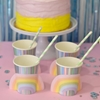 Picture of Paper Cups - Pastel Rainbow