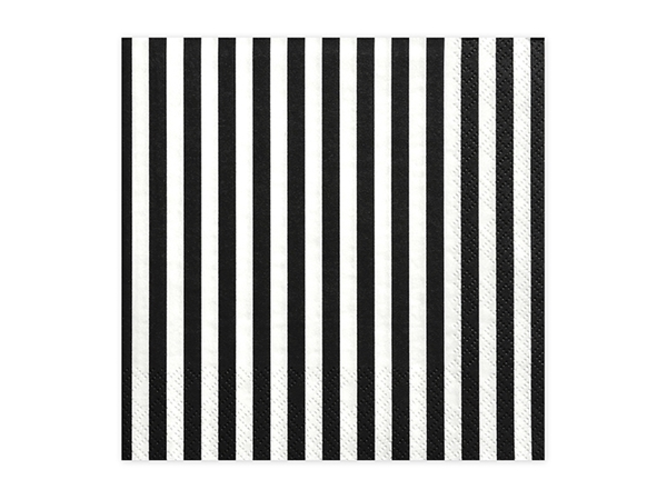 Picture of Paper napkins - Black and White stripes