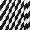 Picture of Paper straws black and white (10pc.)