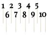 Χάρτινα διακοσμητικά sticks αριθμοί σε μαύρο (1-9)