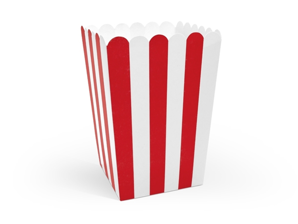Picture of Pop corn boxes red stripes