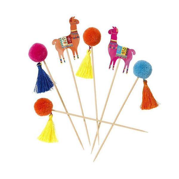 Διακοσμητικά sticks για cupcakes - Λάμα Boho