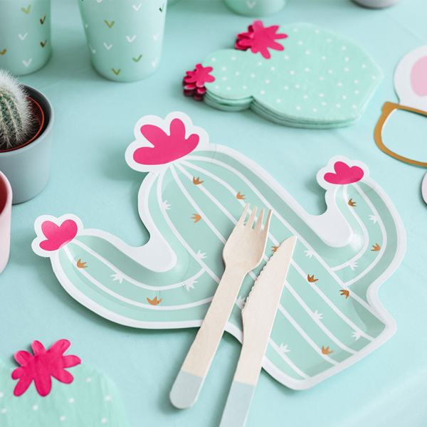 Picture of Paper plates Cactus shaped