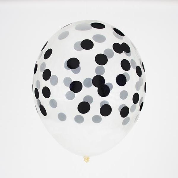 Σετ μπαλόνια πουά μαύρα