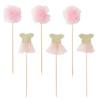Διακοσμητικά Sticks για cupcakes - Μπαλαρίνα