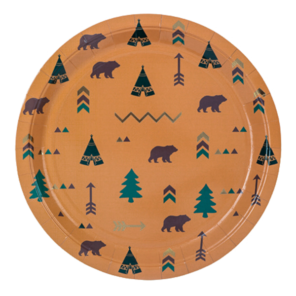 Picture of Paper plates - Indian Forest