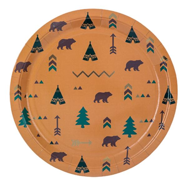 Χάρτινα πιάτα φαγητού - Indian Forest