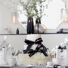 Picture of  Cake Candles Long - Black glitter