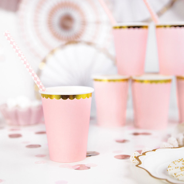 Picture of Paper cups light pink