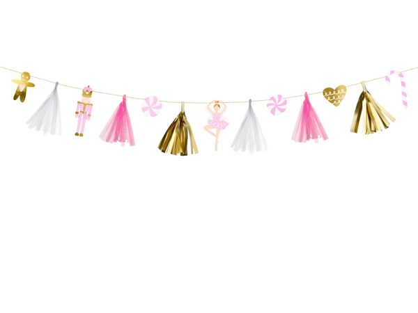 Picture of Christmas paper garland - Pastel