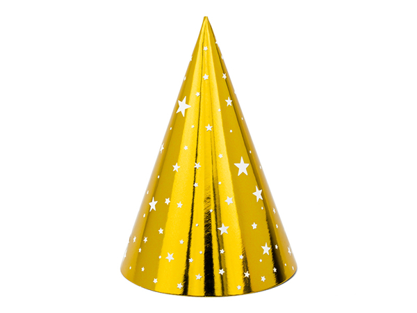 Picture of Party hats -Gold with stars