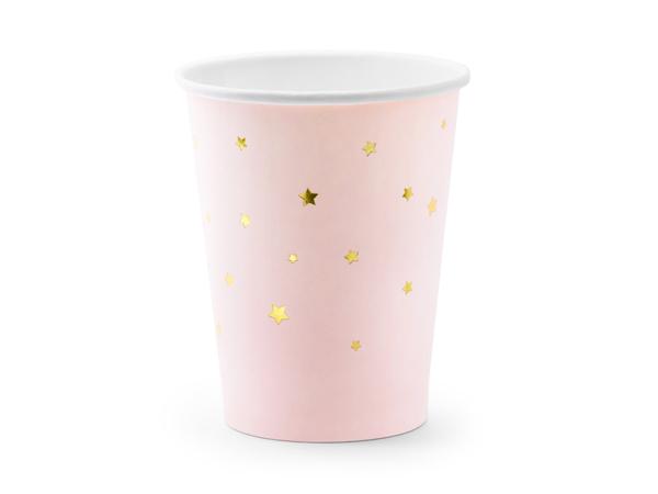 Χάρτινα ποτήρια ροζ με αστεράκια
