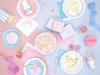 Χάρτινη μπάλα - Ροζ  παστέλ (10εκ)