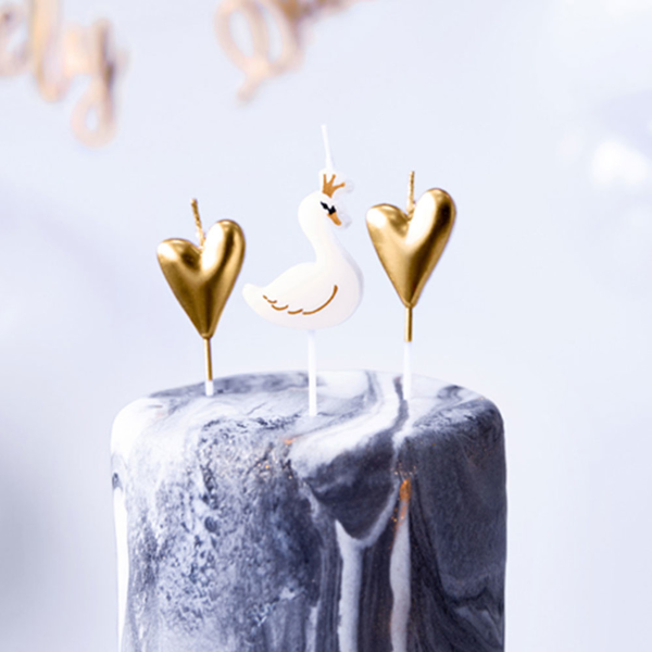 Picture of Candles Swans and gold hearts