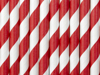 Picture of Red and white striped straws (10pc.)