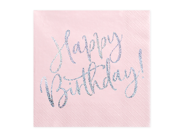 Picture of Paper Napkins - Happy Birthday iridiscent