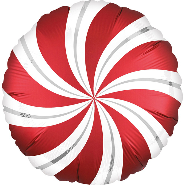 Picture of Foil Balloon Candy red - silver
