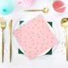 Picture of Paper napkins light pink with stars