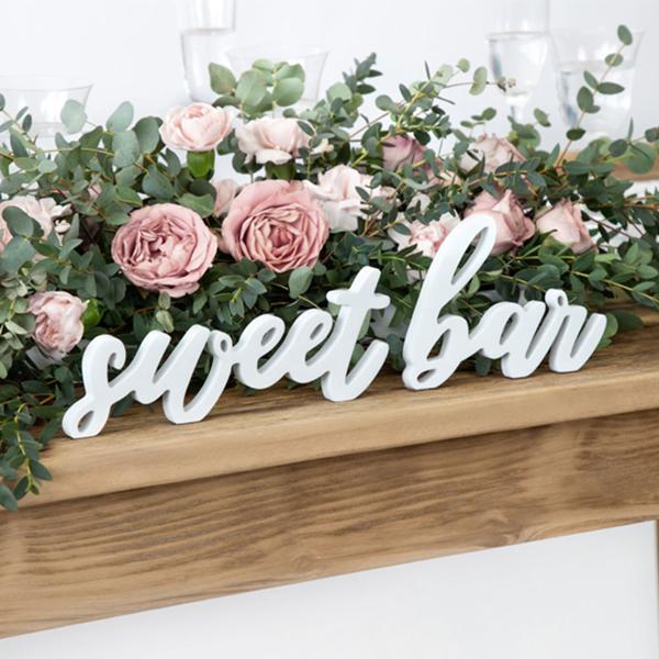 Ξύλινα γράμματα - Sweet bar