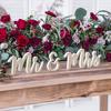 Ξύλινα Γράμματα Mr&Mrs σε χρυσό γκλίτερ