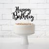 Διακοσμητικό τούρτας  χάρτινο - Happy Birthday μαύρο