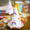 Picture of Party hats - Rainbow with dots