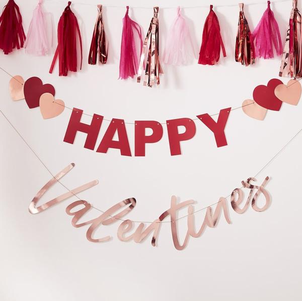 Γιρλάντα - Happy Valentines
