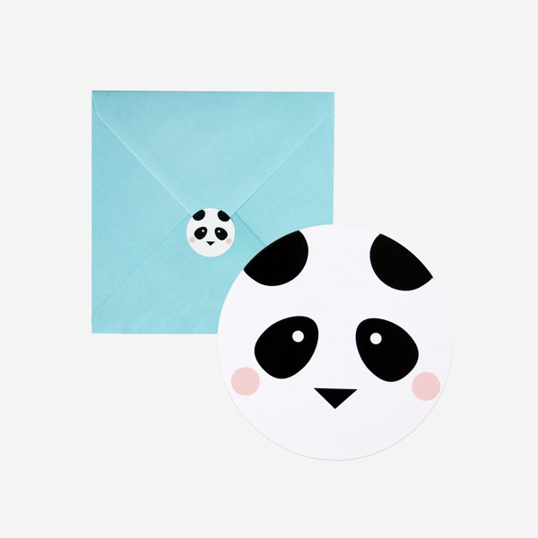 Picture of Party invitations - Panda