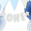 Γιρλάντα με ασημί γράμματα - One