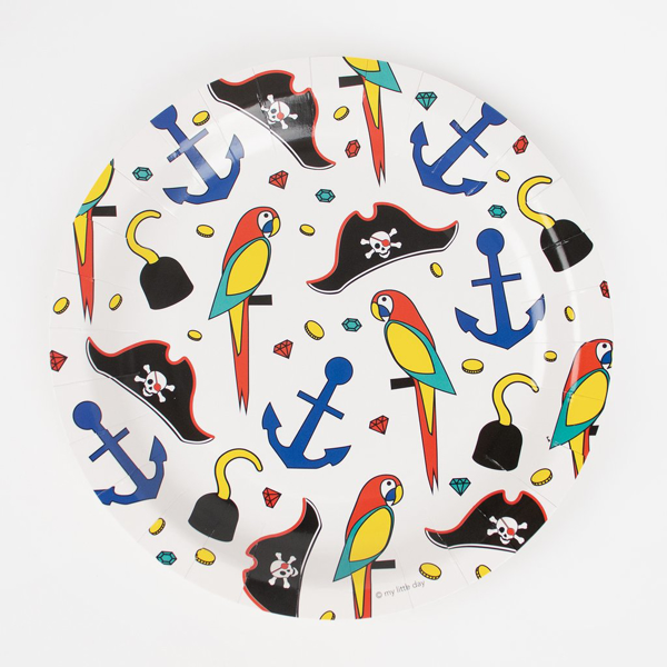 Picture of Paper Plates - Pirate (23cm)
