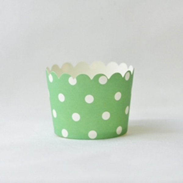 Picture of  Green Polka Dots baking cups