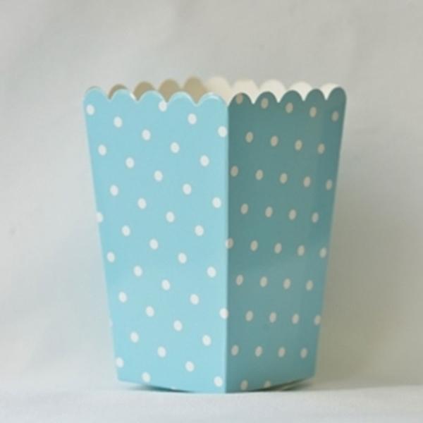 Picture of Pop corn boxes blue dots