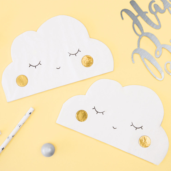 Picture of Paper napkins - Cloud shaped