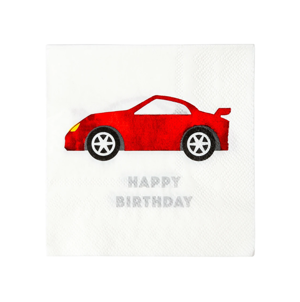 Picture of Paper napkins - Racing car